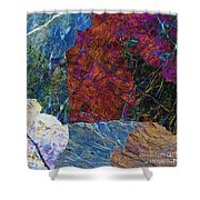 Fracture Section Xi Shower Curtain