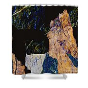 Fracture Section Xiv Shower Curtain