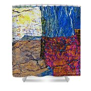 Fracture Section Xvii Shower Curtain