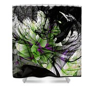 Fractured Bloom  Shower Curtain