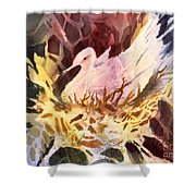 Fractured Fowl Shower Curtain