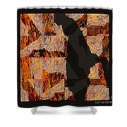 Fractured Overlay I Shower Curtain
