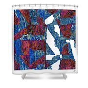 Fractured Overlay Iv Shower Curtain