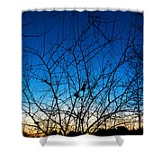 Fractured Sunset Shower Curtain