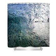 Fractured Tube. Shower Curtain by Sean Davey