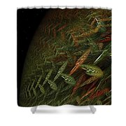 Fragile Biosphere Shower Curtain