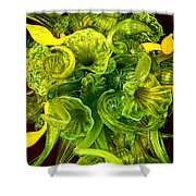 Fragile Flowers Palm Springs Shower Curtain