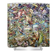 Roadside Fragmentation Shower Curtain