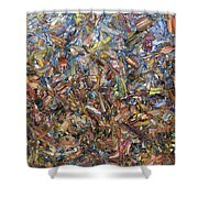 Fragmented Fall Shower Curtain