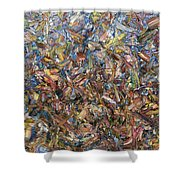 Fragmented Fall - Square Shower Curtain