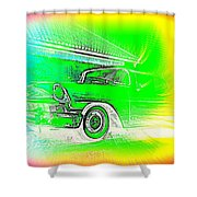 In Your Future I Can See Fragments Of An Old Car Called Bel Air  Shower Curtain