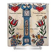 Fraktur Scriften-time Shower Curtain