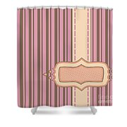 Frame With Ribbon Pinstripe Vector Shower Curtain