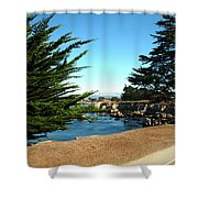 Framed By Cypress Trees Shower Curtain