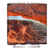 Framed By Mesa Arch Shower Curtain