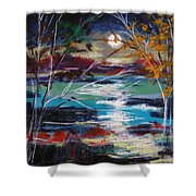 Framed By Moonlight Shower Curtain