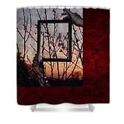 Framed Cherry Blossoms - Featured In Comfortable Art And Nature Groups Shower Curtain