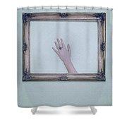 Framed Hand Shower Curtain