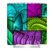 Framed Neon Colors Shower Curtain