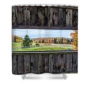 Framed-autumn In Vermont Shower Curtain