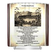 Framed Vintage 23rd Psalm Sepia Shower Curtain