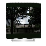 Framing Cloudgate Shower Curtain