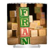 Fran - Alphabet Blocks Shower Curtain