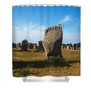 France Brittany Carnac Ancient Megaliths  Shower Curtain