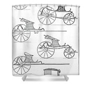 France Carriages, C1740 Shower Curtain