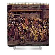 France Catholic League Shower Curtain
