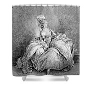 France Court Life, 1778 Shower Curtain
