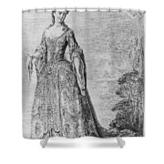 France Fashionable Lady Shower Curtain