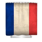 France Flag Distressed Vintage Finish Shower Curtain by Design Turnpike