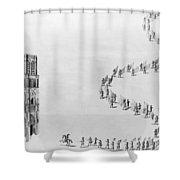 France Notre Dame, 1638 Shower Curtain