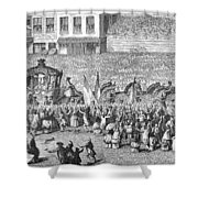 France Royal Procession Shower Curtain