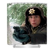 Frances Mcdormand As Marge Gunderson In The Film Fargo By Joel And Ethan Coen Shower Curtain
