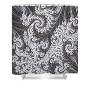 Franciful Frost  Shower Curtain