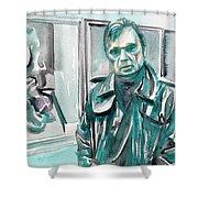 Francis Bacon Watercolor Portrait.3 Shower Curtain