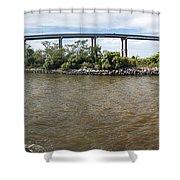 Francis Scott Key Bridge - Pano Shower Curtain