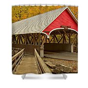 Franconia Notch Flume Gorge Bridge Shower Curtain