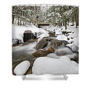 Franconia Notch State Park - White Mountains New Hampshire Usa - Flume Gorge Shower Curtain by Erin Paul Donovan