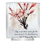 Frangipangi Pulmeria  Poem Shower Curtain