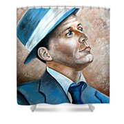 Frank Sinatra Ol Blue Eyes Shower Curtain
