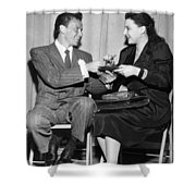 Frank Sinatra Signs For Fan Shower Curtain