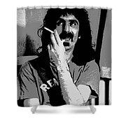 Frank Zappa - Chalk And Charcoal Shower Curtain by Joann Vitali