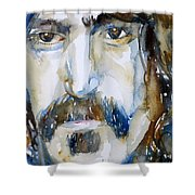 Frank Zappa Watercolor Portrait.2 Shower Curtain