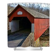 Frankenfield Covered Bridge Shower Curtain