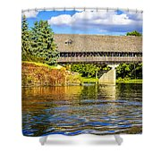 Frankenmuth Covered Bridge Shower Curtain