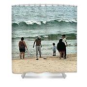 Frankfort Beach Shower Curtain