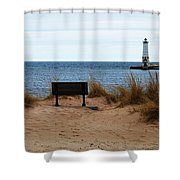 Frankfort Shore Shower Curtain